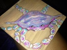 art inspir, parti 2014, paint idea, art parti, acrylic beach painting