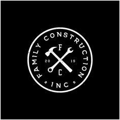 Creative Logo, Construction Company Logo, Construction Tools, Beste Logos, Handyman Logo, Hammer Logo, Maintenance Logo, Vintage Logo, Make Your Own Logo