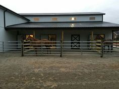 horse stalls with runs ideas
