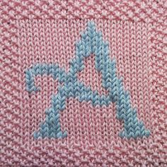 Ravelry: Complete A-Z Capitals set of blanket squares pattern by Fiona Kelly de tejer para principiantes Knitting Squares, Dishcloth Knitting Patterns, Knit Dishcloth, Knitting Charts, Knit Patterns, Baby Building Blocks, Cube Pattern, Ravelry, Knitted Baby Blankets