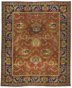 Irish Arts Crafts carpet - Arts Crafts Rug - Vintage Rug - BB2911 by Doris Leslie Blau