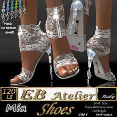 EB Atelier Shoes *MIA* White lace -Wear it quickly-  italian designer