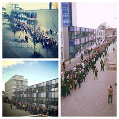 Queues down The Mall for Varsity tickets - 2013's going to be a big year!