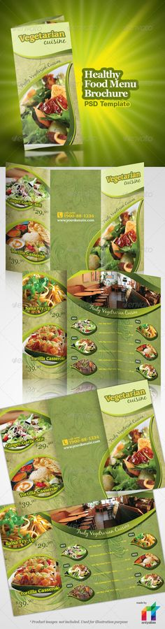 Vegetarian Restaurant menu template #menu