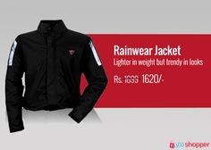 #Jackets Rainwear Jacket Lighter in weight but trendy in looks #RIders order now from www.yooshopper.com, http://www.yooshopper.com/product/16812/547/rainwear-jacket---men-?lcId=145431