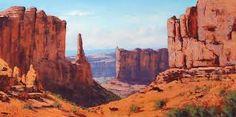 Desert Canyon Utah by artsaus on DeviantArt Landscape Art, Landscape Paintings, Desert Landscape, Landscapes, Southwestern Paintings, Southwest Decor, Desert Diorama, Desert Environment, Spyro The Dragon