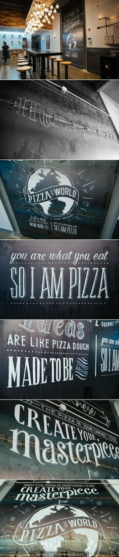 Lettering and Illustration Mural for Pizzanese