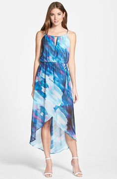 KUT from the Kloth 'Melia' Print Sleeveless High/Low Dress Latest Colour, High Low Skirt, Linen Dresses, Nordstrom Dresses, Chiffon Dress, Tie Dye Skirt, Couture, My Style, Romantic