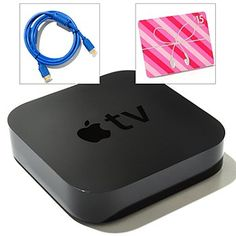 432-162 - Apple TV Wi-Fi Ready Digital Streaming Content Player Bundle w/ $15 iTunes Gift Card & HDMI Cable