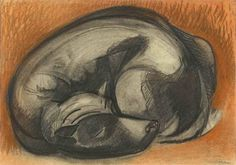 Sleeping Dog - Stanley Pinker South African Art, Wheel Of Life, Art Database, Sleeping Dogs, Cubism, Book Of Life, Animal Paintings, Dog Life, Drawings