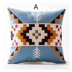 Nordic style geometric throw pillow linen minimalist abstract decorative pillow