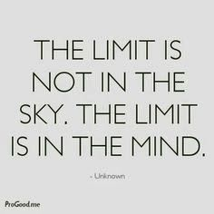 The limit is not in the sky