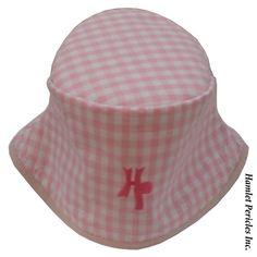 Pink Gingham Women's Bucket Hat by Hamlet by HamletPericlesInc