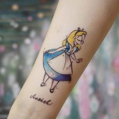 Small Alice in Wonderland Tattoos