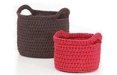 Cestas de ganchillo para el baño: Fotos de diseños - Diferentes modelos de cestos de ganchillo