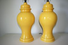 Vintage ginger jar lamps. Bought them on Etsy and LOVE them!