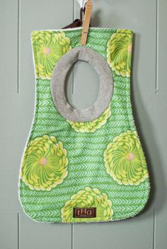 Baby+Bib+Amy+Butler+Delhi+Blossoms+in+Grass+by+fHgdesign+on+Etsy,+$10.00