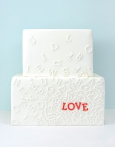 on a cake i love, but would never do. Would be cool as art on a canvas with the glue/paint all white technique....cept paint love red, duh LOL