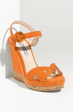 Prada 'Baroque' Wedge Sandal | Nordstrom