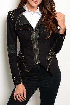 Ark & Co. Black Spikes Jacket - Main Image