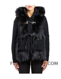 Bark Mongomery corto con pelliccia nero