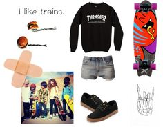 """""""sk8"""" by psycogirl ❤ liked on Polyvore"""