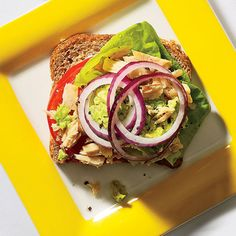 Tuna-Avocado Sandwich http://www.womenshealthmag.com/weight-loss/lunches-for-weight-loss?slide=2