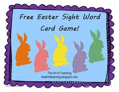 Free Easter Sight Word Game from TAT Clipart on TeachersNotebook.com (15 pages)