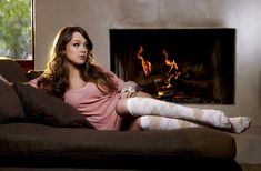 Alaina Fox, Couch, Model, People, See Through Clothing, Socks, Women wallpaper preview