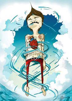 "Ilustración de ""Esta vez"" de Cafe Tacuba, exposición; Seguimos siendo."