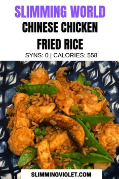 Try this Slimming World Chinese chicken fried recipe - it's one-pan and super simple! world chicken recipes Slimming World Chinese Chicken Fried Rice Recipe Slow Cooker Slimming World, Slimming World Fakeaway, Slimming World Dinners, Slimming World Chicken Recipes, Slimming World Recipes Syn Free, Chinese Chicken Recipes, Fried Chicken Recipes, Slimming World Chicken Fried Rice, Bbq Chicken Pizza