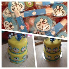 Doraemon cake and gift by Elifzel Tasarım Store.