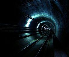 tunnel subway rails