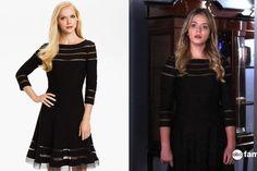 Sasha Pieterse's Black Dress with Mesh Cutouts on 'Pretty Little Liars'