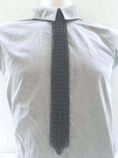 """2"""" Wide Black Aluminum 6/1 European Weave Chainmail Metal Tie - Mens Womens Tie - Geeky Nerdy Tie - Fantasy Fetish Goth Gothic Accessory by JohnsChainmailShop from John's Chainmail Shop. Find it now at http://ift.tt/2op03XE!"""