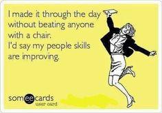 People skills improving.