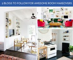 5 Blogs to Follow for Awesome Room Makeovers