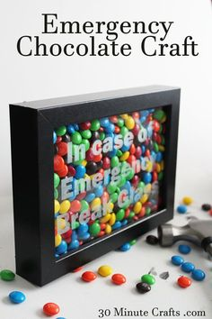 Emergency Chocolate Craft – In Case of Emergency Break Glass