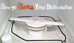 How to Clean Your Dishwasher | One Good Thing by Jillee. Fantastic step by step guide both narrative and some photos too on how to clean out your dishwasher yourself so you don't have to have someone come in and de clog it as well as repair it because it wasn't running properly. Pin leads to her blog with super good instructions on how to do this.