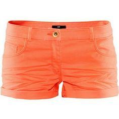 """H&M Shorts Cuffed orange shorts measure 10"""" from waist to bottom of cuff. Functioning pockets. It's a 98% cotton 2% spandex blend. H&M Shorts"""