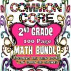 """Spread over 100 Pages are Second Grade Common Core Math Assessments aligned to 100%CCSS, Math Writing Response Sheets, 2 Different Kinds of """"I Can...."""