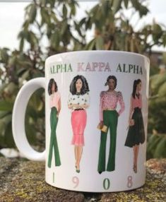 "Alpha Kappa Alpha ""Sorors Mug"" by Maiki Designs. Aka Sorority Gifts, Alpha Kappa Alpha Sorority, Sorority Life, I Want, Greek Gifts, Pink Apple, Disney Couture, Steampunk Necklace, Steampunk Diy"