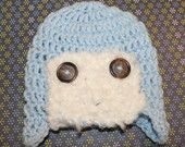 PATTERN for Crochet Aviator Hat  Size Newborn - 3 Months by KraftyShack on Etsy, $4.99 USD