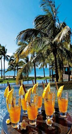Sunny cocktails in Mauritius