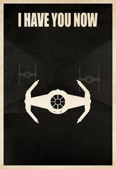 "Licensed Star Wars Minimalist Darth Vader Tie Fighter ""I Have You Now"" Poster Print - Darth Vader Tie Fighter, Darth Vader Shirt, Star Wars Poster, Star Wars Art, Chewbacca, Starwars, Nave Star Wars, X Wing Fighter, Fighter Pilot"