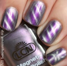 Magnetic Nail Polish- move a magnet over your painted nails to create a design. - thats pretty neat Great Nails, Love Nails, How To Do Nails, My Nails, Crazy Nails, Fabulous Nails, Nail Polish Designs, Cute Nail Designs, Art Designs