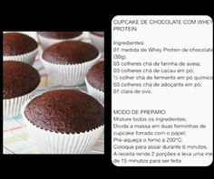 Cupcake  de chocolate fit