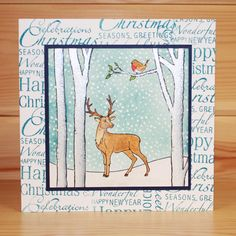 christmas oval aperture cards with cottage scenes scnes Christmas Card Crafts, Christmas Bird, Xmas Cards, Holiday Cards, Deer Photos, Beautiful Christmas Cards, Card Sentiments, Making Greeting Cards, Cool Cards