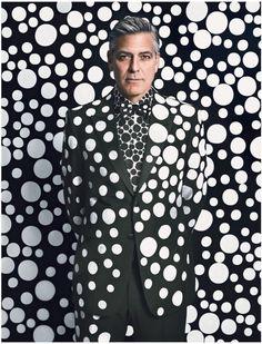 Clooney in custom Yayoi Kusama