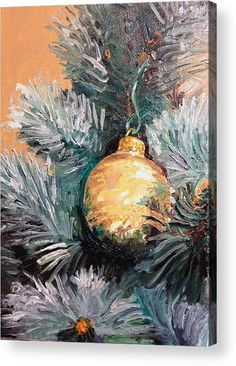 Christmas Tree Ornament Gold Acrylic Print by Arch